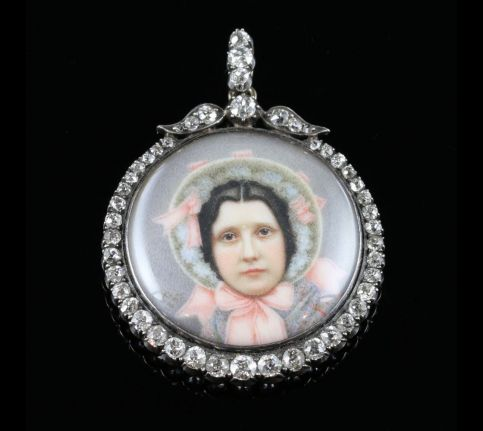 ANTIQUE SUFFRAGETTE DIAMOND PENDANT SYBIL THOMAS VISCOUNTESS RHONDDA