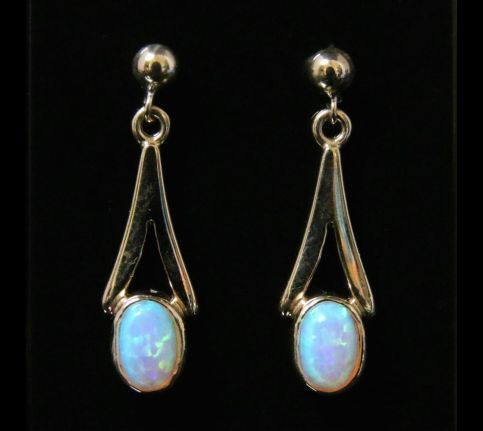 OPAL GOLD CELTIC EARRINGS - 9CT GOLD