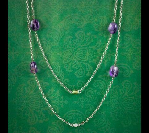 Antique-Edwardian-Suffragette-Sautoir-Chain-Necklace-Silver-Circa-1910-cover