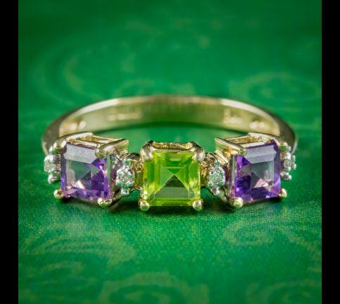 Art-Deco-Suffragette-Style-Ring-Amethyst-Peridot-Diamond-cover