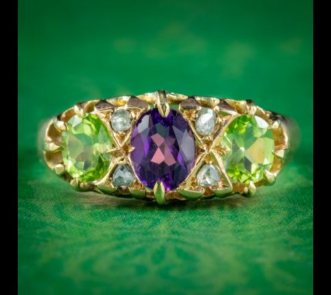 Antique-Edwardian-Suffragette-Ring-Amethyst-Peridot-Diamond-Dated-1903-cover