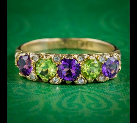 Antique-Edwardian-Suffragette-Ring-Amethyst-Peridot-Diamond-Dated-1907-cover
