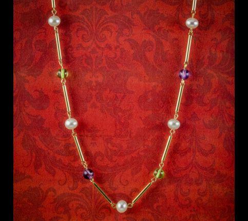 Vintage-Suffragette-Chain-Necklace-9ct-Gold-Circa-1975-cover