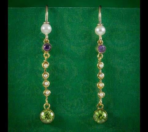 Antique-Edwardian-Suffragette-Drop-Earrings-18ct-Gold-Circa-1910-cover