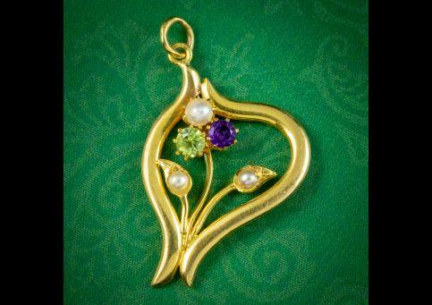 Antique-Edwardian-Suffragette-Flower-Pendant-9ct-Gold-Circa-1910-cover