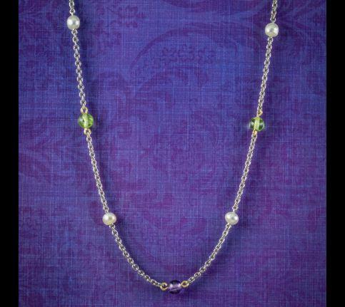 Antique-Edwardian-Suffragette-Chain-Necklace-Platinum-Circa-1915-cover