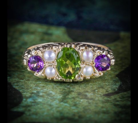 SUFFRAGETTE_RING_AMETHYST_PERIDOT_PEARL_9CT_GOLD_RING_COVER