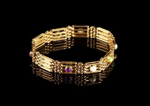 Antique Victorian 15ct Gold Suffragette Bracelet Circa 1900 front