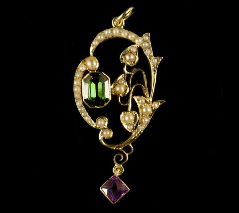 Antique Victorian Suffragette Pendant 15ct Gold Circa 1900