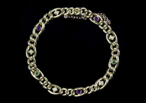 Antique Victorian Bracelet Suffragette 15ct Gold Circa 1900