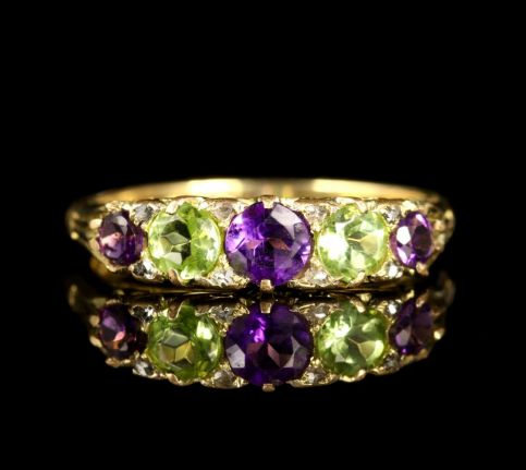 Antique Victorian Suffragette Ring 18ct Circa 1900