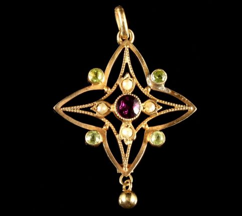 Antique Victorian 9ct Suffragette Pendant Circa 1900