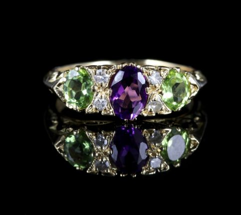 Antique Victorian Suffragette Ring 18ct Gold Ring Circa 1900