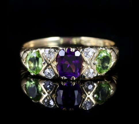 Antique Victorian Suffragette Ring 18ct Chester Circa 1900