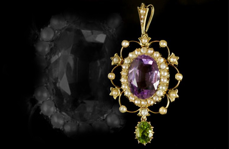 Antique Victorian Suffragette Pendant
